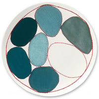 Louise Bourgeois Blue Circles Bone China Plate