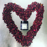 Tier for Teens Face Mask of Burdock & Crushed Rose with Heart made of Rose Petals