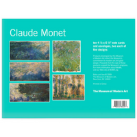 MoMA Design Store Claude Monet Note Card Box Back