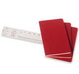 Moleskine Cahier Unlined Journal Set of Three Red Stack