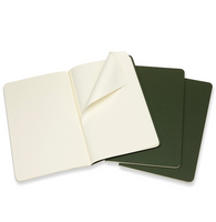 Moleskine Cahier Unlined Journal Set of Three Mrytle Green Inside Detachable Sheet