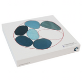 Louise Bourgeois Blue Circles Bone China Plate Gift Box