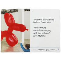 We Go To The Gallery I Want to Play With The Balloon Tea Towel