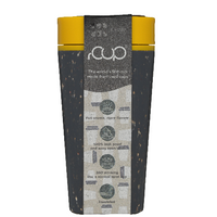 rCUP Reusable Coffee Cup Black & Mustard