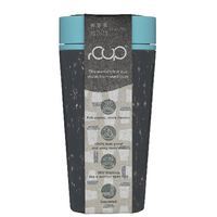 rCUP Reusable Coffee Cup Black & Teal