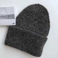 Stansborough Roll Brim Beanie in Grey