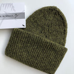Stansborough Roll Brim Beanie in Green