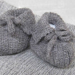 Stansborough Baby Knitted Booties in Grey