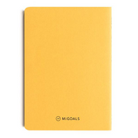 MiGOALS Get Shit Done A6 Notebook Yellow Back Cover