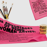 Guerrilla Girls Dear Art Collector Handkerchief with the Advantages of Being a Woman Artist Tea Towel