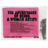 Guerrilla Girls Advantages of Being a Woman Tea Towel Packaging