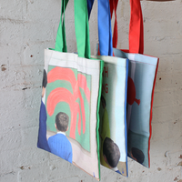 We Go To The Gallery Tote Bags