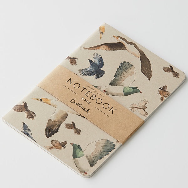 Tumbleweed Painted Birds Ruled Notebook