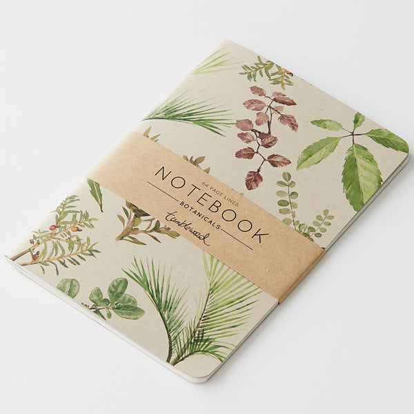 Tumbleweed Painted Botanicals Ruled Notebook