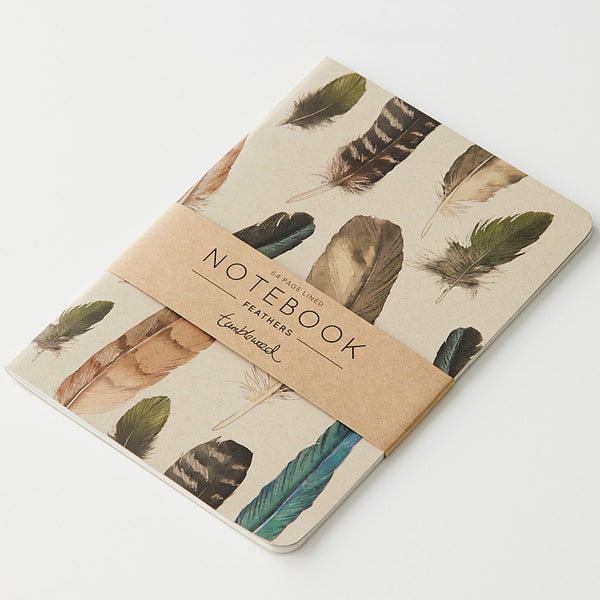 Tumbleweed Painted Feathers Ruled Notebook