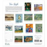 Pomegranate Vincent Van Gogh 2019 Wall Calendar Back