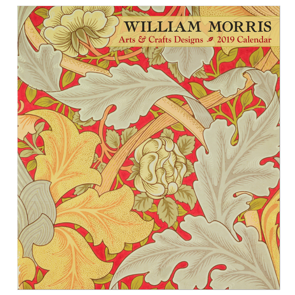 Pomegranate William Morris Arts & Crafts Designs 2019 Wall Calendar Front