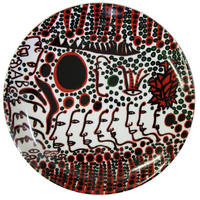 Yayoi Kusama Women Wait For Love, But Men Always Walk Away Ceramic Plate