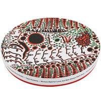 Yayoi Kusama Women Wait For Love, But Men Always Walk Away Ceramic Plate Gift Box