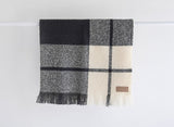 Wool Twill Throw - Block Check | Masterweave