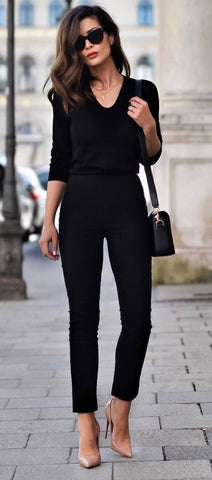 The Parisian Fashion Girl-When in Doubt, Wear Black
