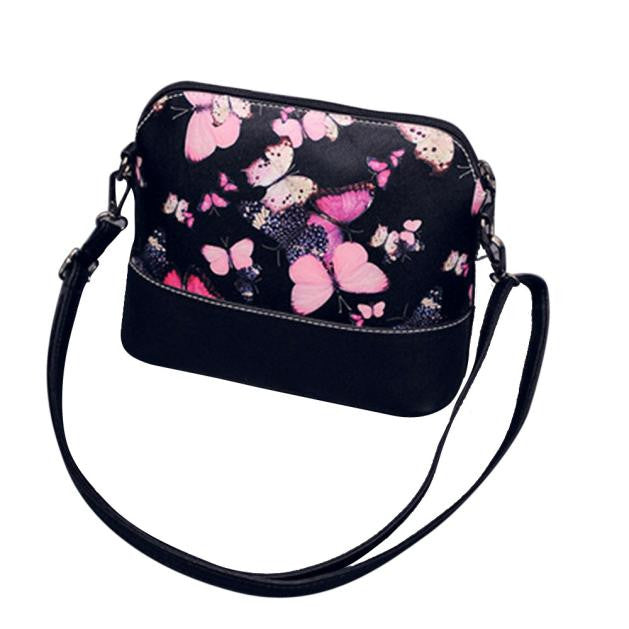 Butterfly Cross Body Bag, Black