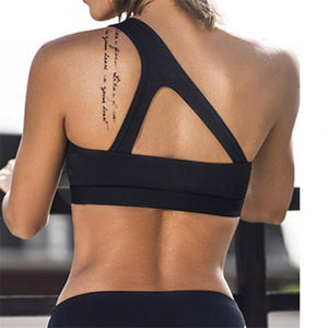 Lux Workout Crop Top, Black