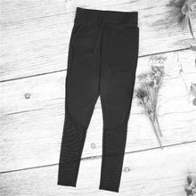 Mesh Panel Workout Leggings, Black