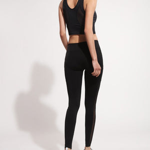 Pocket Mesh Workout/Yoga Leggings, Black