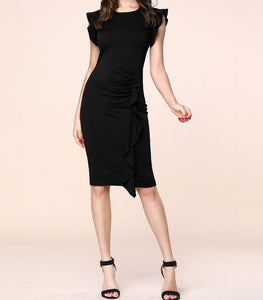 Elevate your day-to-evening ensemble with this Stylish Ruffle Pencil Dress