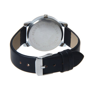 This Unisex Fashionable Leather Watch is a classic yet bold style.