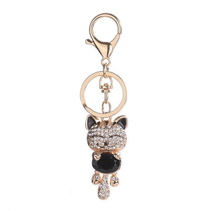 Women's Pretty Cat Key-ring, Black