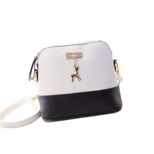Women's Deer Cross Body Bag, Black & White