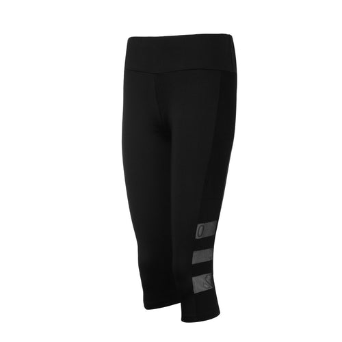 Women's Mesh Pocket Running Capris, Black