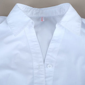 Designed in a simple line with unique chic design, this Ruffle Lapel Collar Shirt, White is the perfect addition to your spring wardrobe.