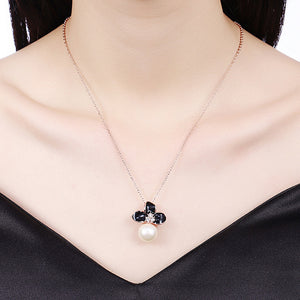 Swarovski Crystal 18K White Gold Plated Triple Heart Necklace