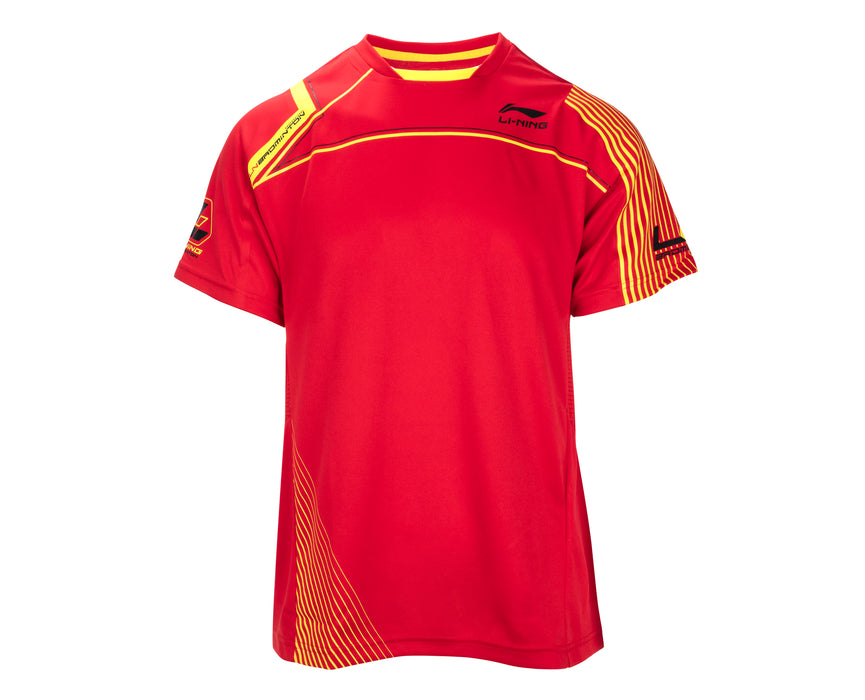 Men's Badminton T-Shirt - Li-Ning - Red - ATSF345-2