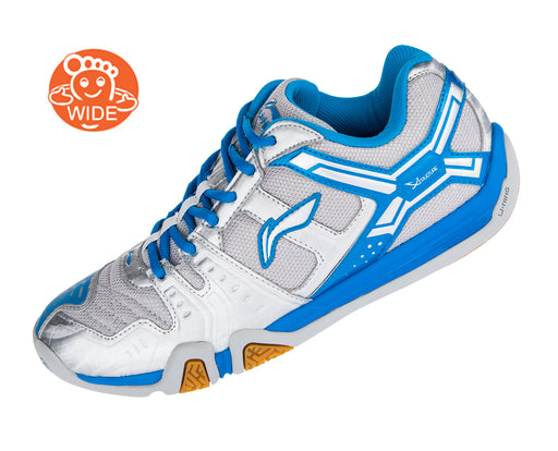 Women's Badminton Shoes - AYTM076-7 - Silver & Blue