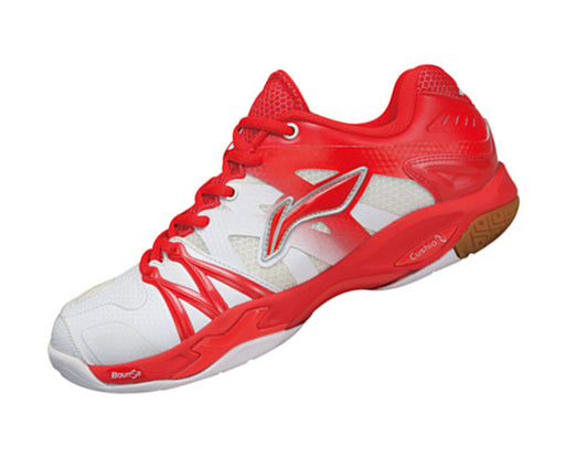 Women's Badminton Shoes - AYAL024-2 - Red & White
