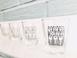 Cat Army Shot Glass