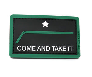 Come and Take It Plastic Straw Morale Patch