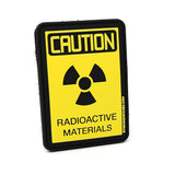 Caution Radioactive Materials PVC Patch