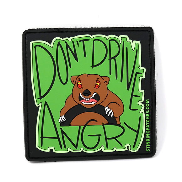 Don't Drive Angry Groundhog PVC Patch