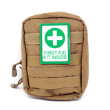 Green First Aid Kit Inside PVC Patch