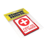 Red First Aid Kit Inside PVC Patch