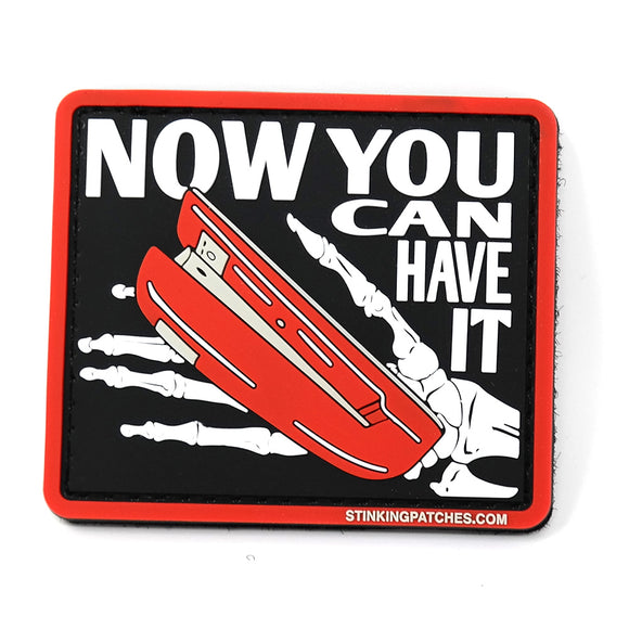 Now You Can Have It Red Stapler Office Space Morale Patch