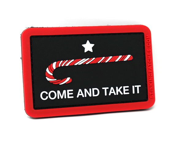 Come and Take It Candy Cane Patch