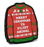 Merry Christmas Ya Filthy Animal Ugly Sweater Patch