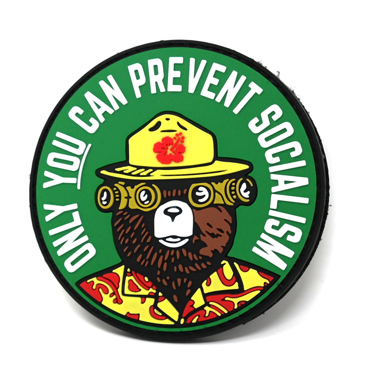 Only You Can Prevent Socialism Smokey Bear Parody Hook And Loop Patch Stinking Patch Co