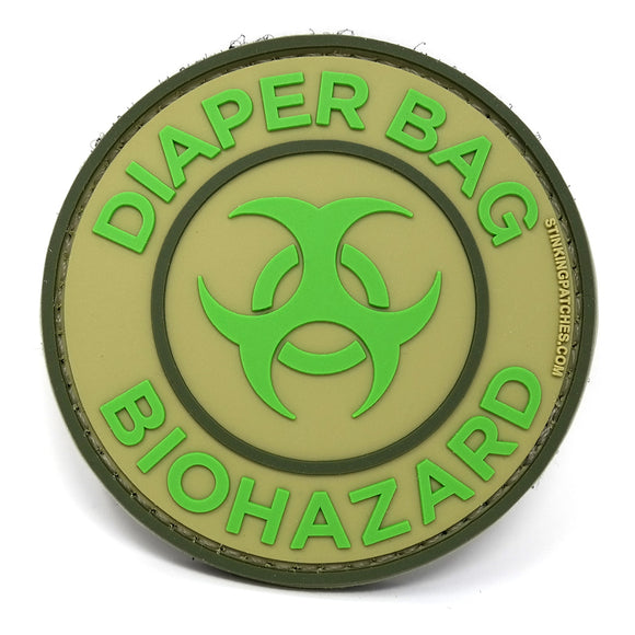 Diaper Bag Biohazard Morale Patch